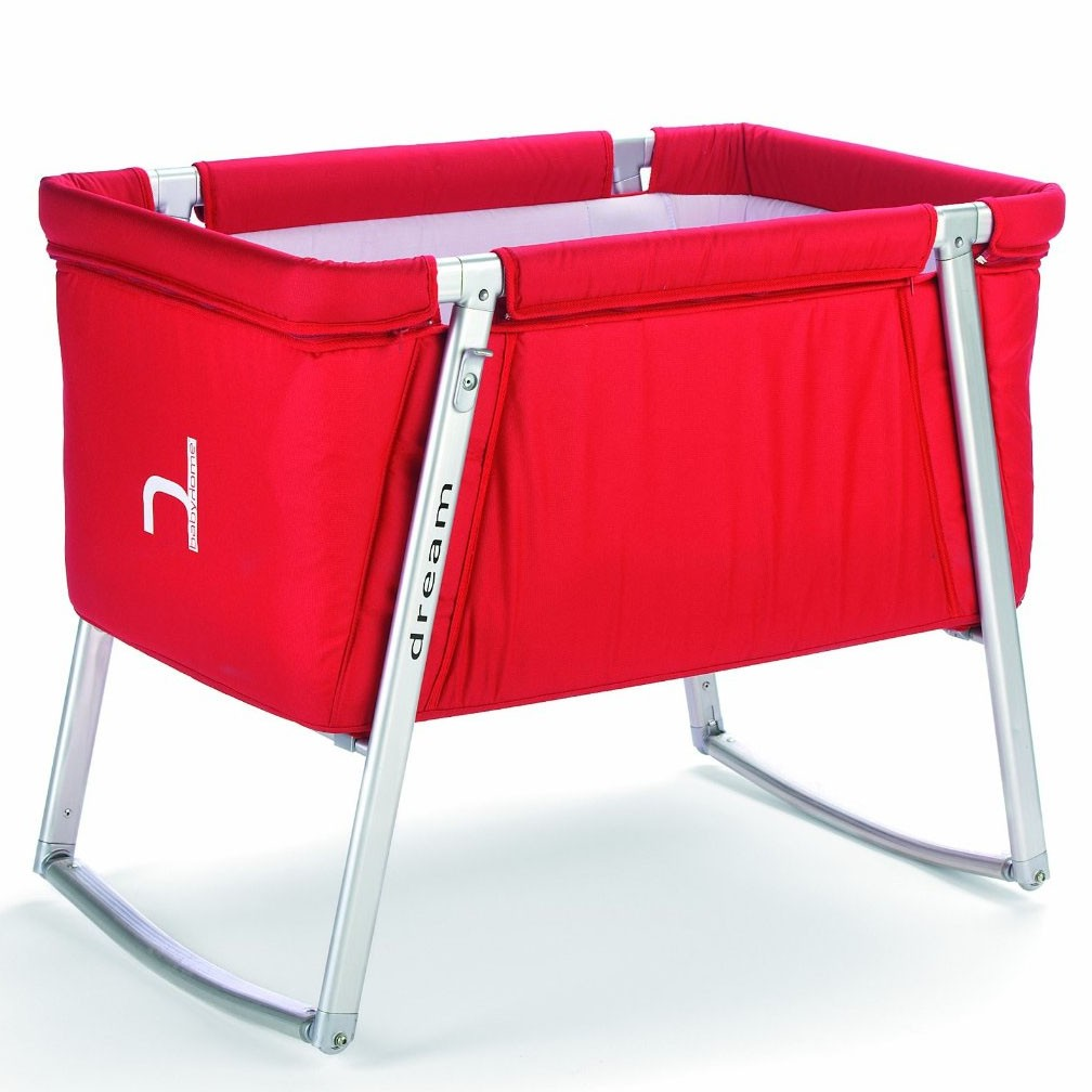babyhome dream baby cot (red) - babyhome dream baby cot in red
