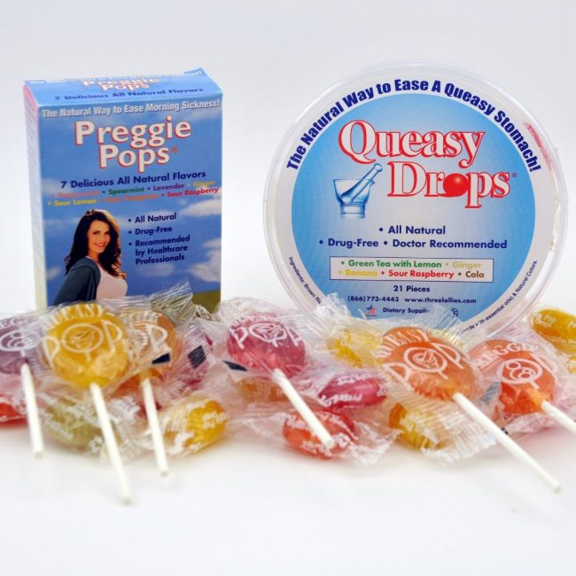 Queasy Drops and Preggie Pops offer a natural remedy for relieving nausea and queasy upset stomachs