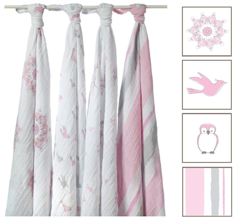 Aden Amp Anais For The Birds Classic Swaddle Blanket 4 Pk