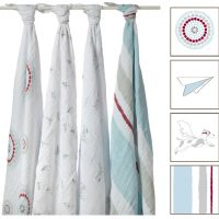 Aden and Anais Liam the Brave Classic Muslin Swaddle Blanket