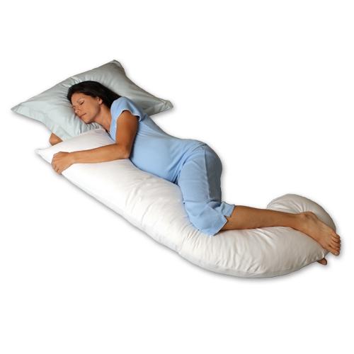 Snoozer Pure Natural Goose Down DreamWeaver Pregnancy Pillow