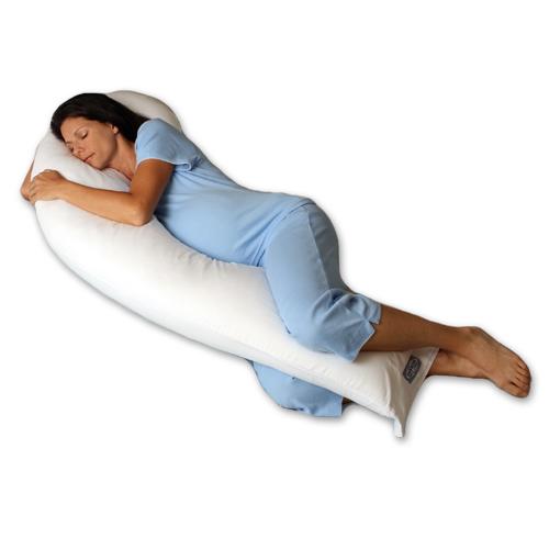 Snoozer DreamWeaver Full Body Pregnancy Pillow (Comforel® Premium Cluster Fiber)