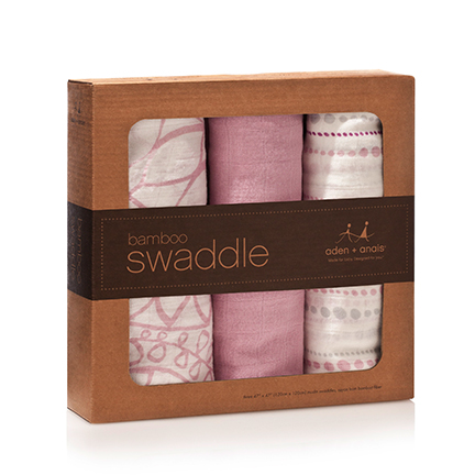 tranquility bamboo swaddles by aden and anais box item no. 9204