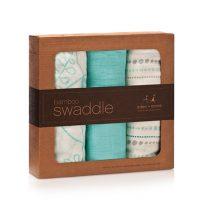aden + anais azure bamboo swaddle blanket