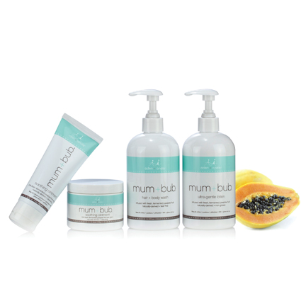 aden + anais mum bum ultra gentle lotion skin care set