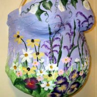 ProudBody Belly Cast Painted with Flowers
