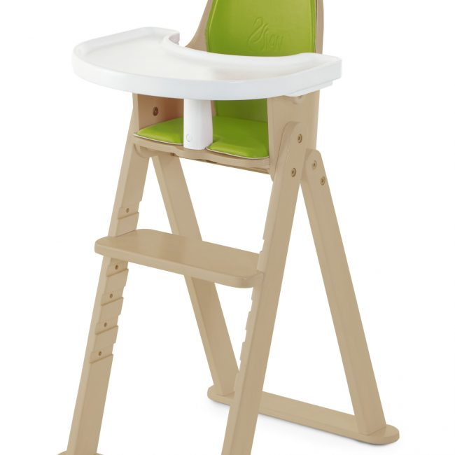 SCI SVAN Scandinavian Child Baby to Booster Highchair No Tray with Guard Crotch Bar Natural and Lime