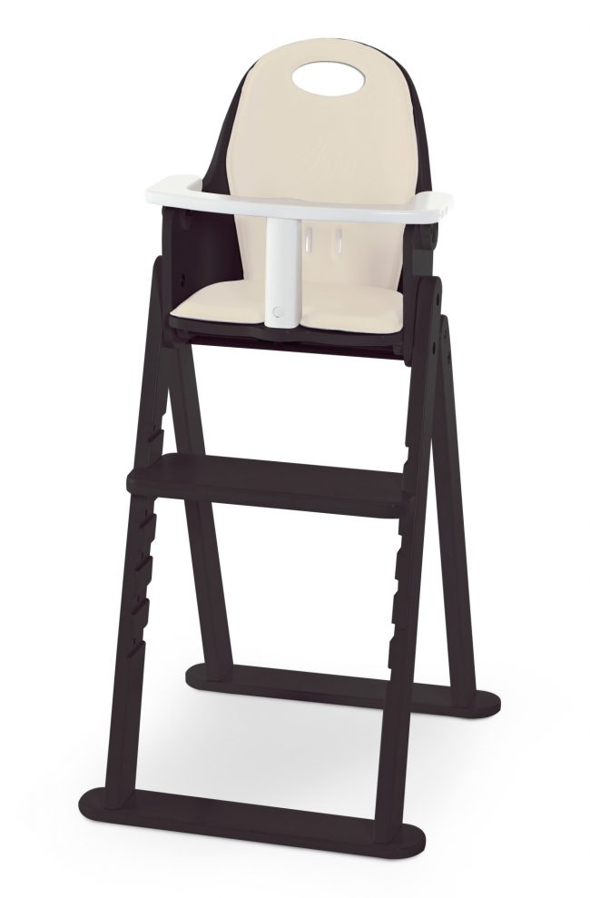 SVAN Scandinavian Child Baby to Booster Highchair No Tray with Guard Crotch Bar Espresso Almond