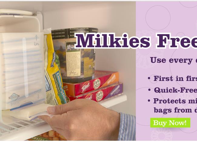 Milkies Freeze Breast Milk Storage in Freezer