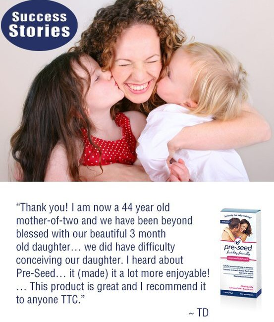 PreSeed Sperm Friendly Lubricant Testimonial