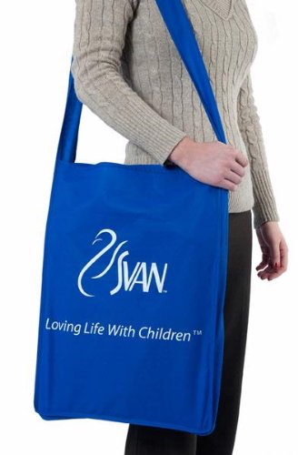 SCI SVAN Scandinavian Child Lyft Booster Seat Being Carried in Carrying Bag
