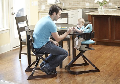SCI Svan Turquoise Signet Chair Cushion with Baby and Dad