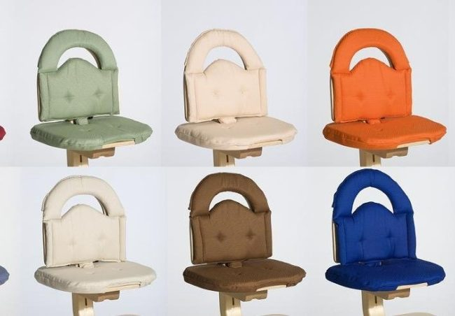 SCI Svan high Chair Cushion Colors