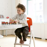 SCI SVAN Scandinavian Child boy with trains in Baby to Booster