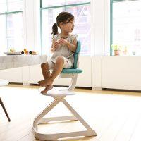 SCI SVAN Scandinavian Child Whitewash Signet Essential Highchair girl in signet