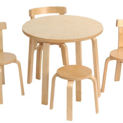 SCI SVAN Scandinavian Child Play With Me Toddler Table + Chairs Set Natural