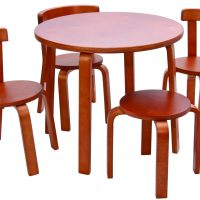 SCI SVAN Scandinavian Child Play With Me Toddler Table + Chairs Set Cherry