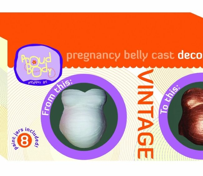 Vintage Proudbody Pregnancy Belly Cast Decorating Kit