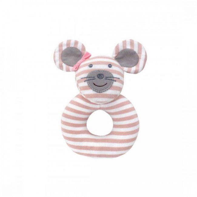 Organic Farm Buddies Ballerina Mouse Teething Rattle