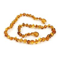 Momma Goose Baroque Honey Baltic Amber Teething Necklace