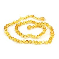 Baroque Lemon Baltic Amber Adult Necklace by Momma Goose