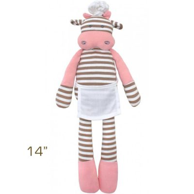 Apple Park Organic Farm Buddies Chef Cow 14″ Plush Toy
