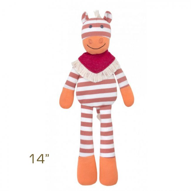 "Organic Farm Buddies Poncho the Horse 14"" Plush Toy by Apple Park"