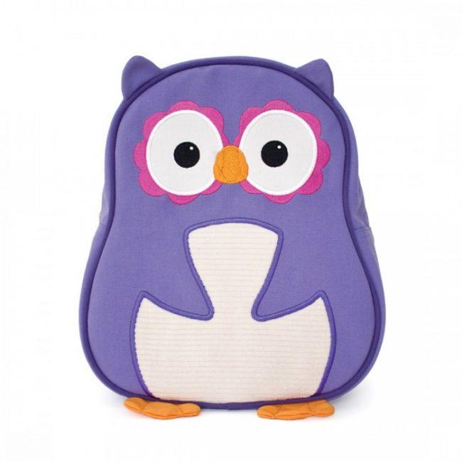 Apple Park Purple Owl Toddler Backpack
