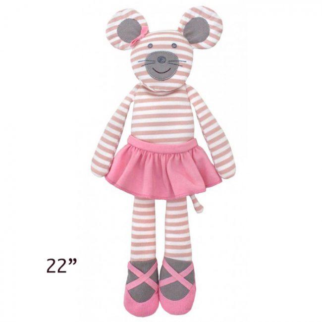 "Organic Farm Buddies Ballerina Mouse 22"" Plush Toy"