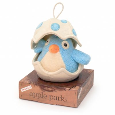 Apple Park Blue Musical Baby Bird Pull Toy