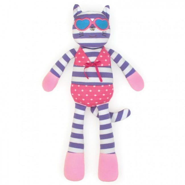 "Organic Farm Buddies Catnap Kitty 14"" Plush Toy"