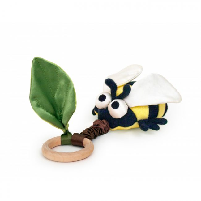 Crawling Bee Teething Toy by Apple Park