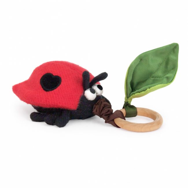 Apple Park Crawling Ladybug Teething Toy