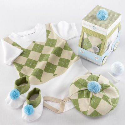 """Sweet Tee"" Three Piece Golf Layette Set by Baby Aspen"