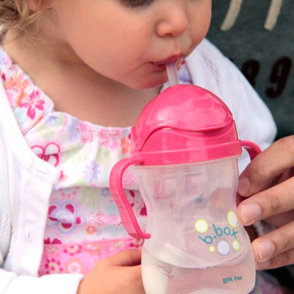 B. Box Essential Sippy Cup in Raspberry