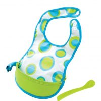 B. Box Travel Bib Retro Circles in Green and Blue