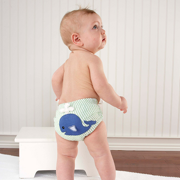 "Baby Aspen ""Beach Bums"" 3-Piece Diaper Cover Gift Set"