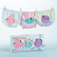 Baby Aspen Beach Bums Baby Girl Bloomers Sea Themed Octopus Fish and Crab