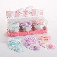 "Baby Aspen ""Baby Cakes"" 3 Pairs of Socks Gift Set"
