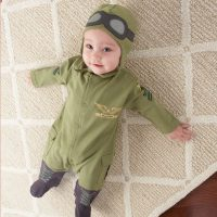 "Baby Aspen ""Big Dreamzzz"" Baby Pilot Two-Piece Layette Set"