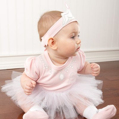 "Baby Aspen ""Big Dreamzzz Baby Princess"" Three-Piece Layette Set"