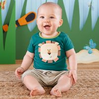 """King of the Jungle"" T-shirt and Cargo Style Shorts Set by baby Aspen"