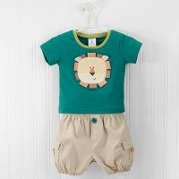 """Baby Aspen """"King of the Jungle"""" T-shirt and Cargo Style Shorts Set"""