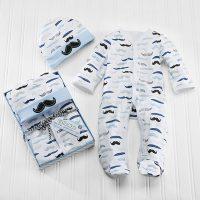 "Baby Aspen ""Little Man"" Pajama Gift Set"