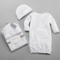 "Baby Aspen ""Baby Blessings"" Baby Gown & Cap"