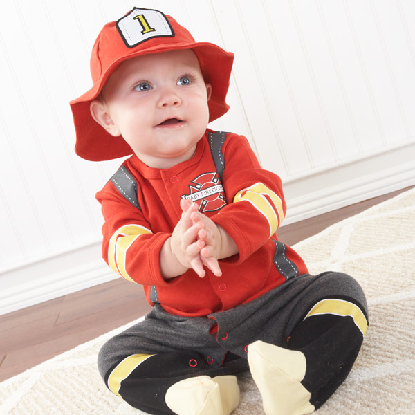 Baby Boy Firefighter Layette Set