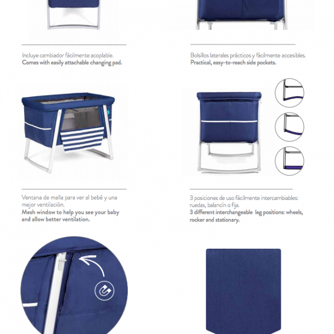 Main Features Babyhome Air Bassinet