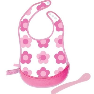 B Box Flower Power Travel Bib with Spoon