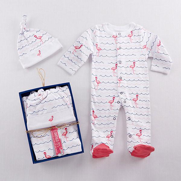 "Baby Aspen ""Flamingo PJ's"" Gift Set"