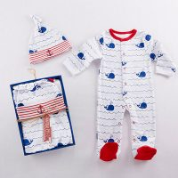 Baby Aspen Nautical Whale Footed Pajamas for Baby Boys